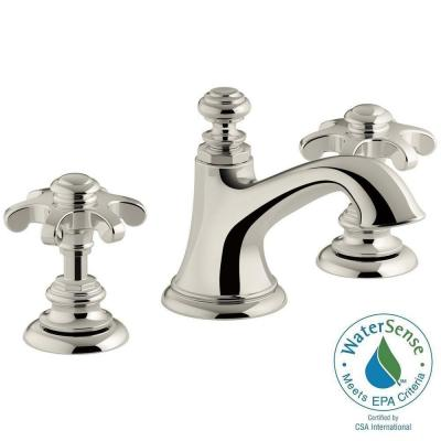 Artifacts 8 in. Widespread 2-Handle Bell Design Bathroom Faucet in Vibrant