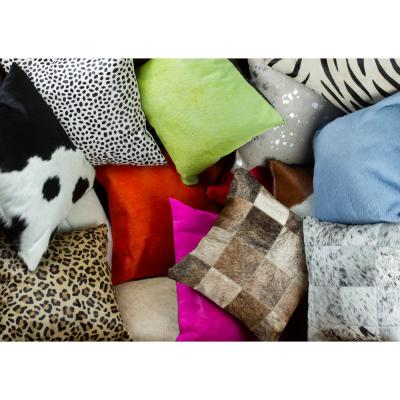 Torino Quattro Cowhide 18 in. x 18 in. Throw Pillow