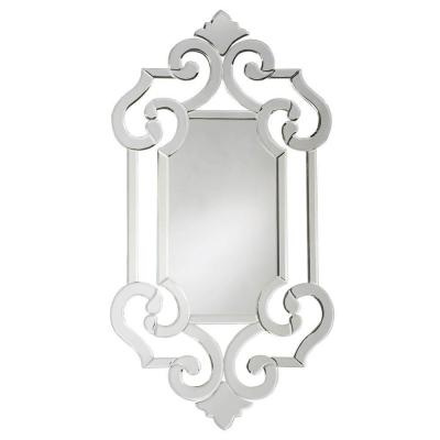 null 41 in. x 22 in. Venetian Framed Mirror