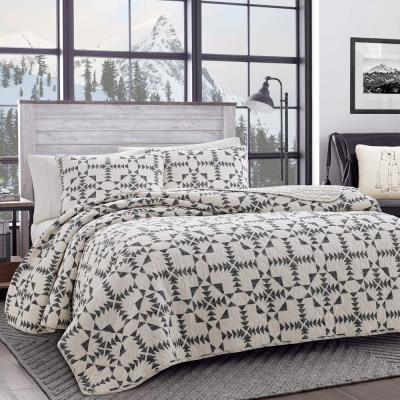 Arrowhead Charcoal Cotton Quilt Set