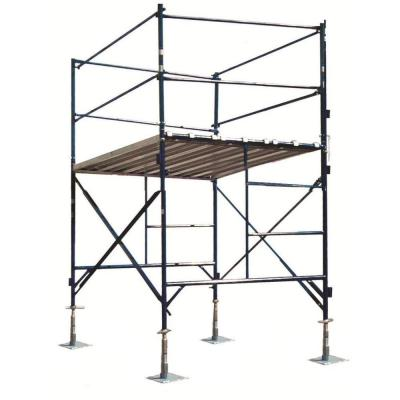 PRO-SERIES 6 ft. x 7 ft. x 5 ft. 1-Story Commercial Grade Scaffold Tower 2,000 lb. Load Capacity with Guardrail and Locking Casters