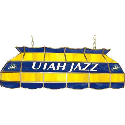 null NBA Utah Jazz NBA 3-Light Stained Glass Hanging Tiffany Lamp