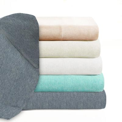 Soft Tees Jersey Solid Color 1000-Thread Count Cotton Jersey Sheet Set