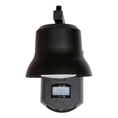 Outdoor Black Porch Light with Motion Detector