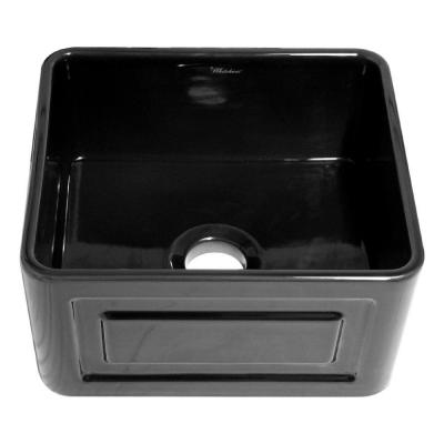 Raised Sink Bowls : ... in. Single Bowl Kitchen Sink in Black-WHFLRPL2018-BL - The Home Depot
