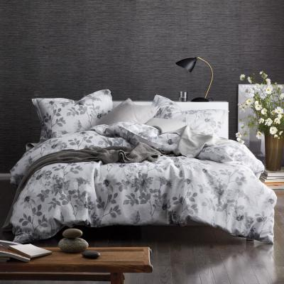 Patio Floral Linen Duvet Cover