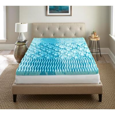 3 in. Gel Memory Foam Mattress Topper