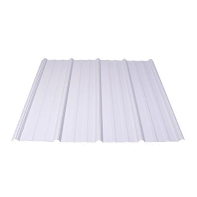 8 ft. Shelterguard Exposed Fastener Galvanized Steel Roof Panel in White Product Photo