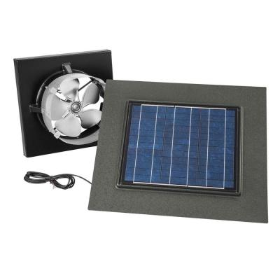 28 Watt Solar-Powered Weathered Wood-Look Gable Mount Attic Vent
