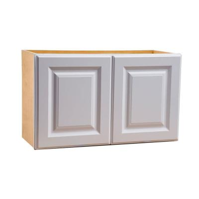 36x30x12 in. Hallmark Assembled Wall Double Door Cabinet in Arctic White