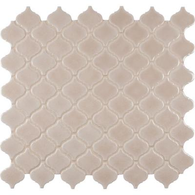 Fog Arabesque 9.84 in. x 10.63 in. x 6 mm Glazed Porcelain Mesh-Mounted Mosaic Tile Product Photo