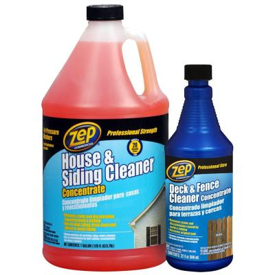 Zep 128 Oz House And Siding Cleaner With 32 Oz Deck And