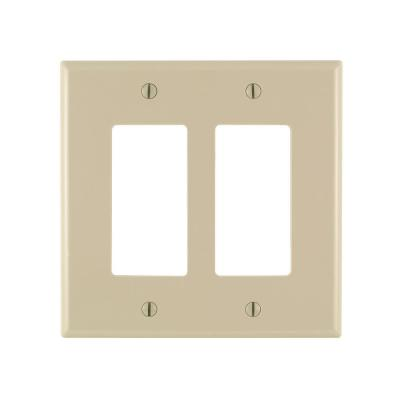 Decora 2-Gang Midway Nylon Wall Plate, Ivory