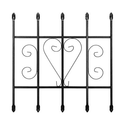 24 in. x 24 in. Su Casa Black 5-Bar Window Guard Product Photo