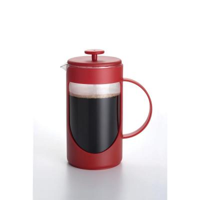 BonJour 8-Cup Ami-Matin Unbreakable French Press in Red