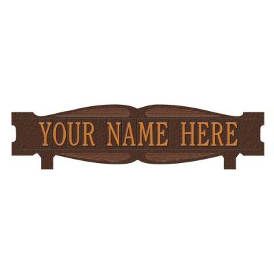 Rectangular 2-Sided 1-Line Mailbox Sign without Ornament Standard - Antique