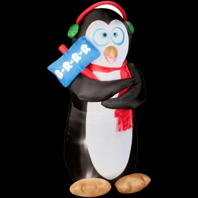 Home Accents Holiday 6 ft. Airblown Animated Shivering Penguin