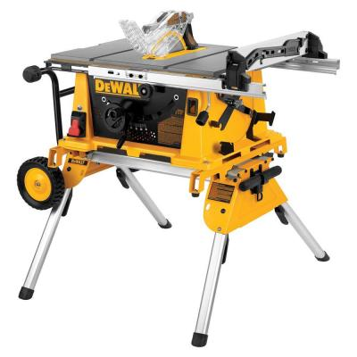 Dewalt 10 in 15 amp jobsite table saw with rolling stand for 10 jobsite table saw