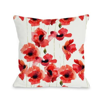 Graphic Polyester 16 in. x 16 in. Throw Pillow