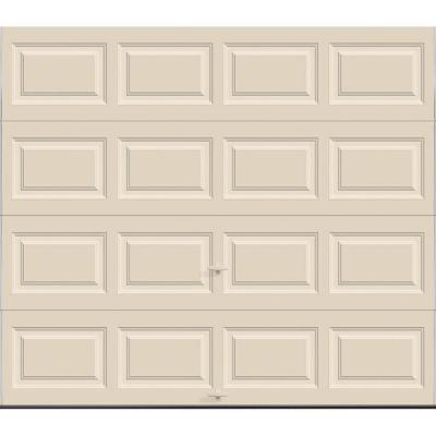 Clopay Premium Series 8 ft. x 7 ft. 12.9 R-Value Intellicore Insulated Solid Almond Garage Door