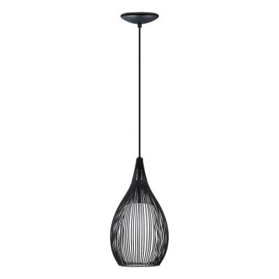 Razoni 1-Light Black Pendant