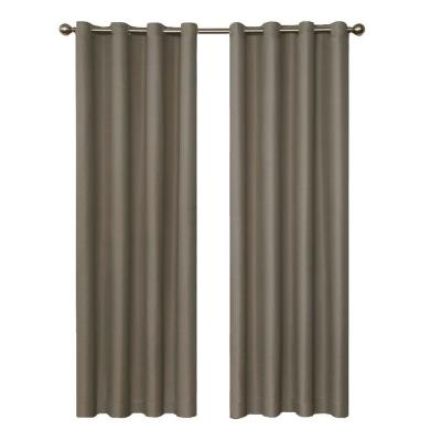 Eclipse Dane Blackout Smoke Curtain Panel, 84 in. Length (Price Varies by Size)