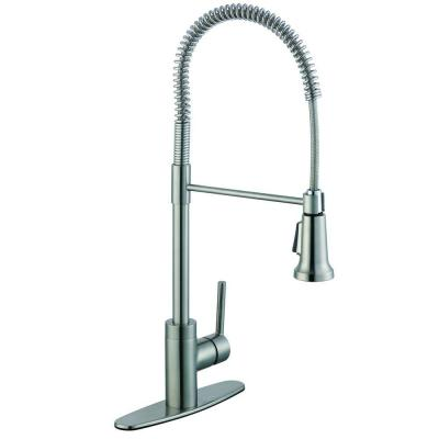 Glacier Bay 1200 Series Single-Handle Pull-Down Sprayer Kitchen Faucet in Stainless Steel