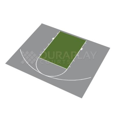 DuraPlay 30 ft. 9 in. x 25 ft. 8 in. Half Court Basketball Kit