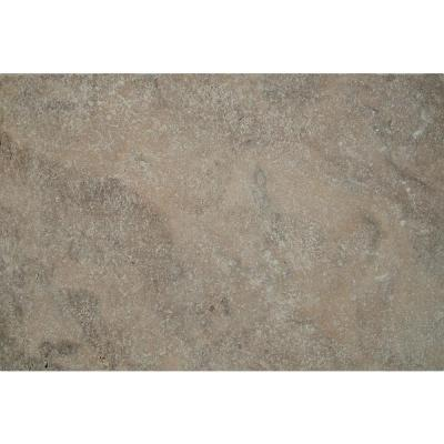 Silver 16 in. x 24 in. Tumbled Travertine Paver Tile (15