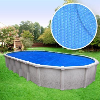 Heavy-Duty 3-Year Oval Blue Solar Cover Pool Blanket
