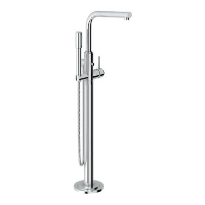 Atrio Single-Handle Floor-Mount Roman Tub Faucet with Hand Shower in StarLight Chrome Product Photo