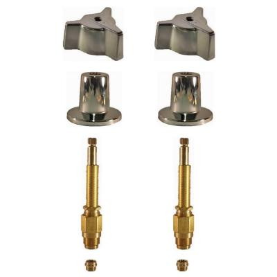 2 Valve Rebuild Kit for Tub and Shower with Chrome Handles for Central Brass Product Photo