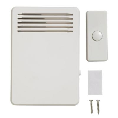 75 dB Wireless Plug-In Door Bell Kit with 1-Push Button, White
