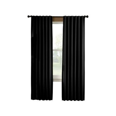Curtainworks Saville 108 in. Black Thermal Curtain Panel
