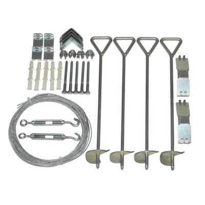 Palram Snap & Grow Series 4 in. x 18 in. x 4 in. Greenhouse Anchoring Kit