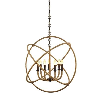 Isidora 7-Light Natural Iron Frame Chandelier