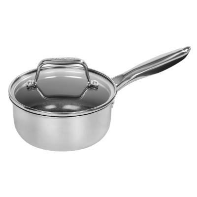 MAKER Homeware 1 Qt. Stainless Steel Saucepan with Lid