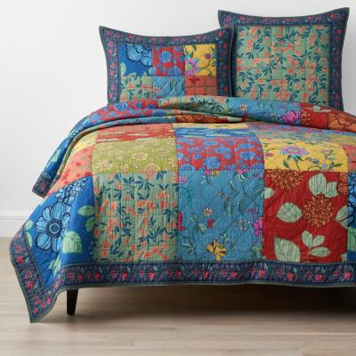 Mariposa Handcrafted Multicolored Cotton Quilt