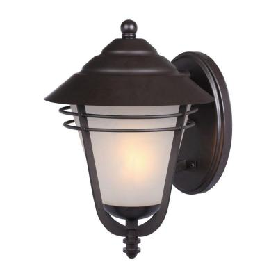 Westinghouse Bonneville Wall-Mount 1-Light Outdoor Weathered Bronze Lantern
