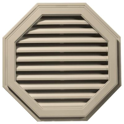 32 in. Octagon Gable Vent in Sandalwood Product Photo