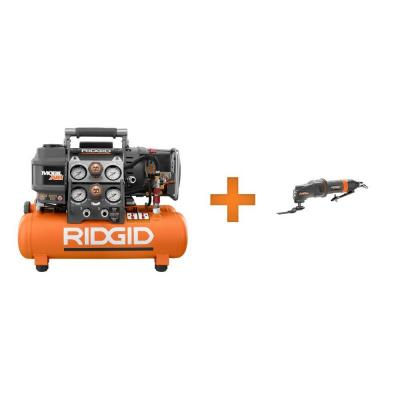 RIDGID Tri-Stack 5 Gal. Compressor and Pneumatic JobMax Combo Kit