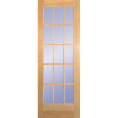 Builder 39 s choice 30 in x 80 in 30 in clear pine wood 15 Home depot interior doors wood
