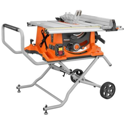 15-Amp 10 in. Heavy-Duty Portable Table Saw with Stand