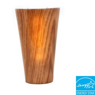 Its Exciting Lighting Vivid Series Wall Mounted Indoor/Outdoor Cherrywood Style Battery Operated 5 LED Wall Sconce