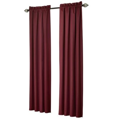 Brighton Chocolate Thermal Lined Curtain Panel (Price Varies by Size) Product Photo