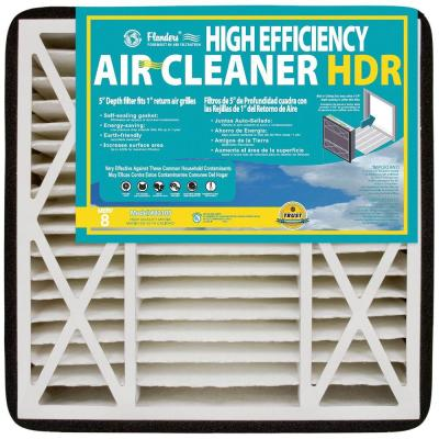 null 16 in. x 20 in. x 5 in. HDR MERV 8 Pleated Air Filter (Case of 2)