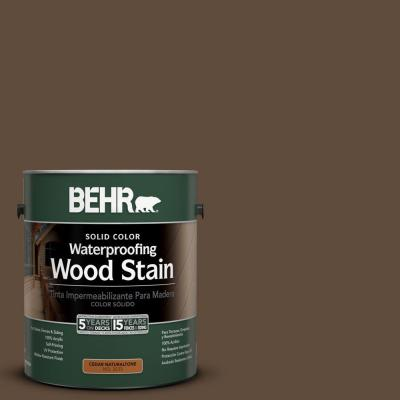 BEHR 1-gal. #SC-141 Tugboat Solid Color Waterproofing Wood Stain