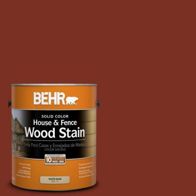 BEHR 1-gal. #SC-330 Redwood Solid Color House and Fence Wood Stain