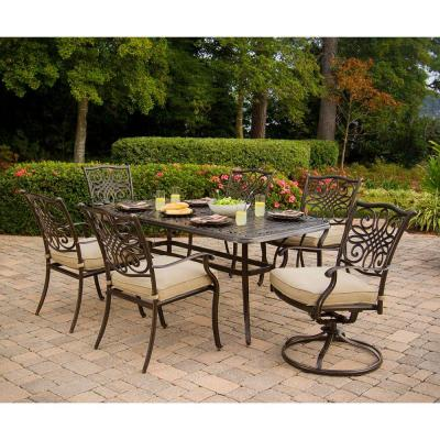 hanover traditions 7 piece patio outdoor dining set with 4