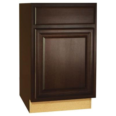 21x34.5x24 in. Cambria Base Cabinet with Ball-Bearing Drawer Glides in Java Product Photo